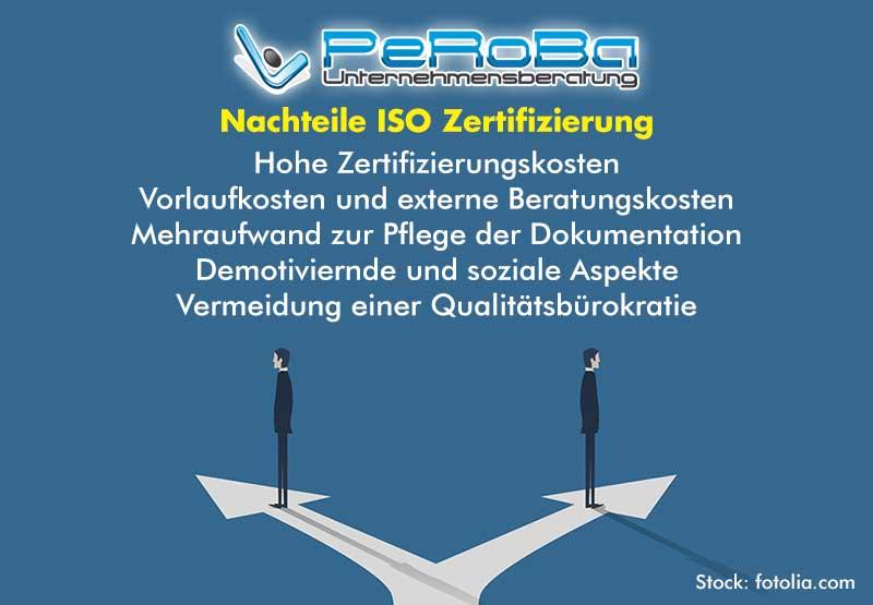 Nachteile ISO Zertifizierung