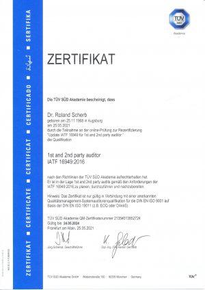 IATF Zertifikat 2021